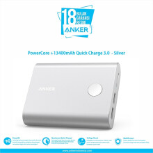 [free ongkir]Anker Powerbank PowerCore+ 13400mAh Quick Charge 3.0 Silver - A1316H41