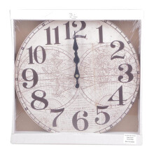 BLOOM & BLOSSOM Wall Clock - World Map