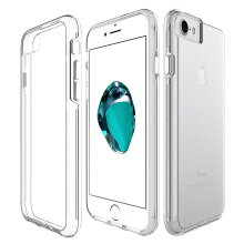 iPhone 7/8 Clear PC TPU 2 in 1 Shockproof Case For iPhone 7/8  Transparent
