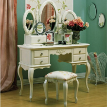 THE OLIVE HOUSE - Meja Rias Queen Anne Console Set *White Ivory* (Free Ongkir Jawa & Bali)