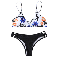 Tiny Floral Multiple-Rope Bikini Set