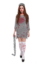 Halloween Zombie Prisoner Cosplay Costumes