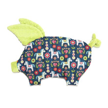 LA MILLOU Sleepy Pig Pillow - Flower Horse Lime Green SP046L