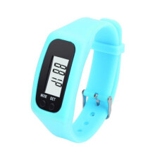 BESSKY Digital LCD Pedometer Run Step Walking Distance Calorie Counter Watch Bracelet-