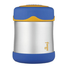 THERMOS FOOGO Vacuum Insulated Stainless Steel Food Jar - Biru Kuning 0.3 L (B3000 BL)