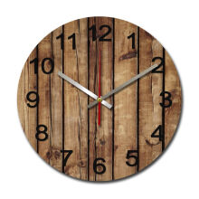 NAIL YOUR ART Brown Wood Wall Clock/30x30Cm