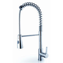LANGFAN J6501 Pull Out Brass Bathroom Kitchen Sink Faucet With Shower