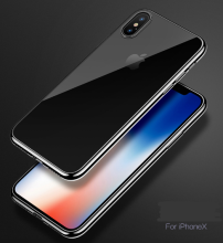 Reys R-10 Silicone anti-fall Transparent IPHONE X case cover-Black