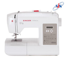 SINGER 6180 Brilliance Mesin Jahit Computerised Portable - Putih