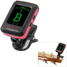 JOYO JT - 12B Clip-on 360 Degrees Rotation LCD Guitar Tuner for Bass Violin Ukulele