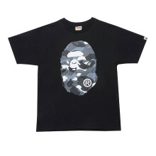 A BATHING APE City Camo Big Ape Head Tee - Black [M] 0ZX TE M10031X 7 WHB