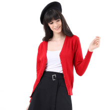 Mobile Power Ladies Basic Cardigan - Red MPL258 Red All Size