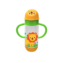 BABY SAFE Feeding Bottle Animal Series Wide Neck with Handle 250ml
