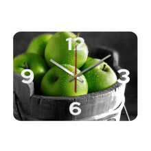 NAIL YOUR ART Green Apple Wall Clock/30x30Cm