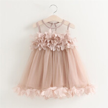 BESSKY  Baby Girls Princess Dress Pageant Sleeveless Print Dresses _