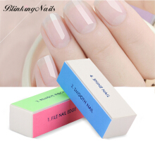 BlinkingNails Manicure 4 Way Shiner Nail Polisher Eva Sponge Nail File Buffer Sanding Block Nails Buffers Block Disposable