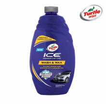 Turtle Wax ICE Premium Car Care - Wash & Wax 1420ml - Shampoo Mobil With ANTI UV - Blue