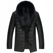 BESSKY Fashion Men Warm Thickening Leather Coat Jacket Faux Fur Parka Outwear Cardigan _