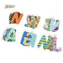 Jollybaby Cute Nontoxic Multifunctional Geometric Print Alphabet Cloth Book Teether