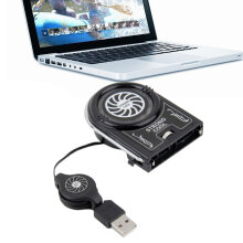 Mini Vacuum USB Cooler Air Extracting Cooling Fan Pad for Notebook Laptop