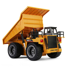 HUINA 1540 RC Alloy Dump Truck Auto Demonstration Function Yellow