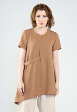 Rianty Basic Atasan Wanita Blouse Kimmy - Brown