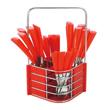 NAKAMI Stainless Steel Cutlery 25pcs - Red