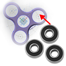 Hand Spinner Super Fast Long Lasting Finger Spinner For Autism ADHD Toy-Black