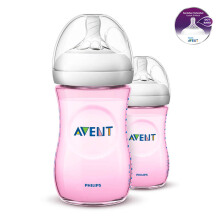 AVENT Bottle Natural 2.0 Twin Pack 260ml - Pink SCF694/23