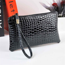 BESSKY Women Crocodile Leather Clutch Handbag Bag Coin Purse-