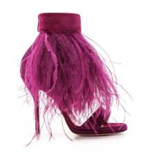 PAUL ANDREW Sofia Feather Sandals - Purple