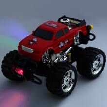 Huanqi 629 40MHz 1:16 Scale Remote Control Music Car Radio Racing Vehicle EU PLUG(Red)