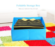 Foldable Storage Box Bra Underwear Drawer Organizer Polyester Fabric Container