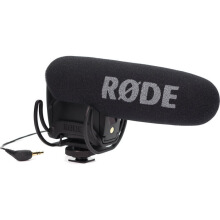 Rode VideoMic Pro Compact Directional On-camera Microphone with Rycote Lyre Shock Mounting Onboard Black
