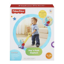 FISHER PRICE Infant Pop 'n Push Elephant 6Y8651