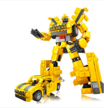 GUDI  D14 Toy Transformers Compatible with LEGO blocks for 6 years old kid 413pcs blocks