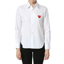 COMME DES GARCONS Red Heart Shirt Woman - White