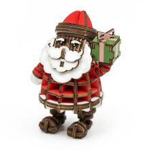 JIGZLE 3D Puzzle Kayu - Santa Claus (With Color)