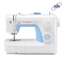 SINGER 3221 Simple Mesin Jahit Portable Multifungsi - Putih-Biru