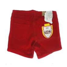 Mobile Power Ladies Basic Color Short Pants Denim - Red F5512