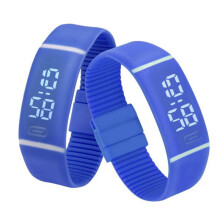BESSKY Mens Womens Rubber LED Watch Date Sports Bracelet Digital Wrist Watch-