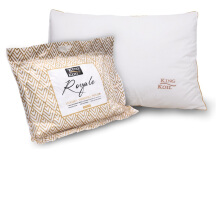 KING KOIL Accessories Pillow Royale Gold Fiber - White
