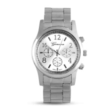 Women Girl Unisex Exquisite Charm Geneva Stainless Steel Quartz Wrist Watch