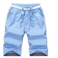 summer men's shorts leisure cotton 5 points pants Slim beach pants