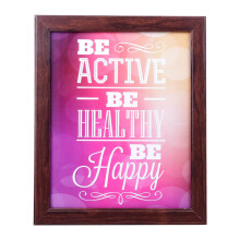 BLOOM & BLOSSOM Be Active Poster with Frame 25x30cm