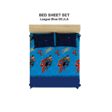 PILLOW PEOPLE Bed Sheet Set DC Justice Leagueof America - Blue League / 160x200cm