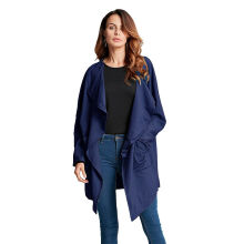 ZANZEA Ladies Waterfall Loose Casaul Coat -  Navy Blue