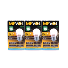 MEVAL Lampu LED  Bulb 11W - Cool Day Light / Putih - 3 pcs Value Pack