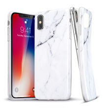 iPhone X Case, iPhone X Marble Case, ESR Slim Soft Flexible TPU Marble Pattern Cover for Apple iPhone X(White Sierra)