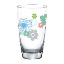 OCEAN Flora Refreshing Drink Glass 2 pcs - Emerald - 465 ml